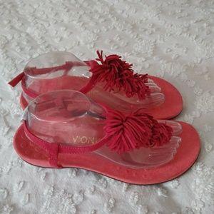 Vionic Coral Fringed Thong Sandal